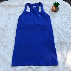 Nike Bright Blue Spandex Workout Tank Top